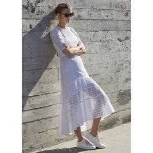 Banana Republic Hi-Lo White Eyelet Maxi Dress
